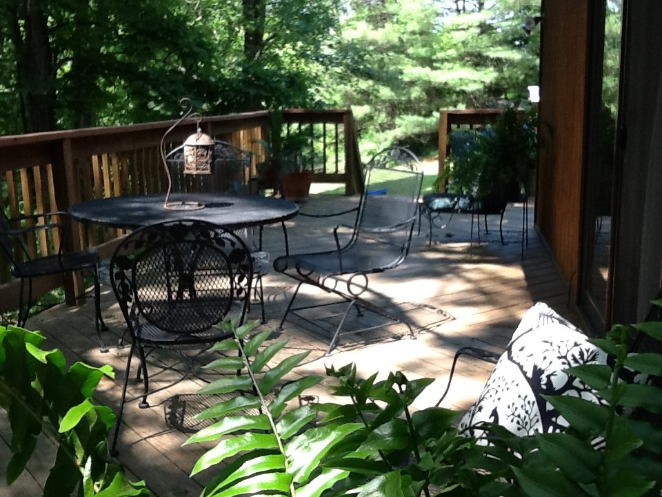 The deck mid summer